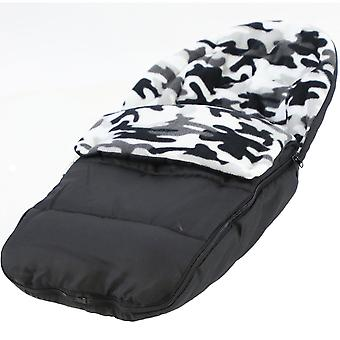 Universal Fleece Car Seat Footmuff / Cosy Toes - Fits All 3 And 5 Point Harnesses
