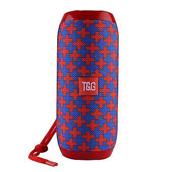 T & G TG-117 Wireless Soundbar Speaker Wireless Bluetooth 4.2 Speaker Box Red-Blue