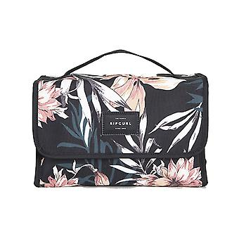 Rip Curl Rolled Beauty Case Playa Wash Bag in Black