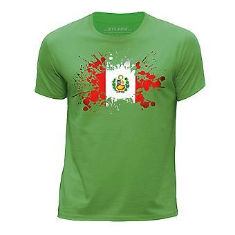 STUFF4 Chłopca wokół szyi T-shirty Shirt/Peru/peruwiańskiej flagi Splat zielony