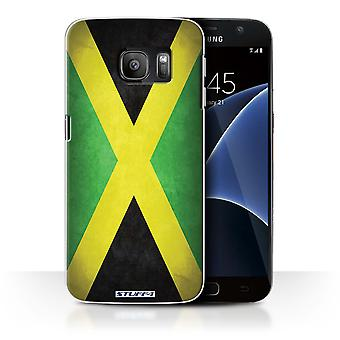 STUFF4 Case/Cover for Samsung Galaxy S7/G930/Jamaica/Jamaican/Flags