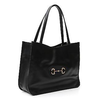 Gucci 6236941u10g1000 Women's Black Leather Tote