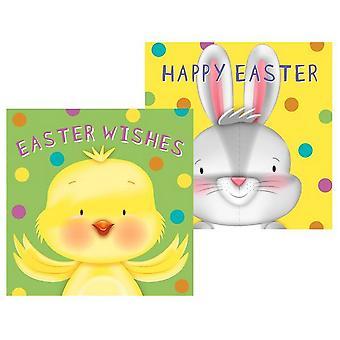 Eurowrap Cute Easter Greetings Cards (Pack of 10)