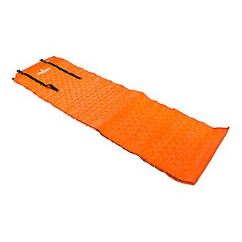 Milestone Self Inflating Camping Tent Floor Mat Orange