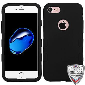 MyBat Rubberized TUFF Hybrid Case for Apple iPhone SE2/8/7 - Black/Black