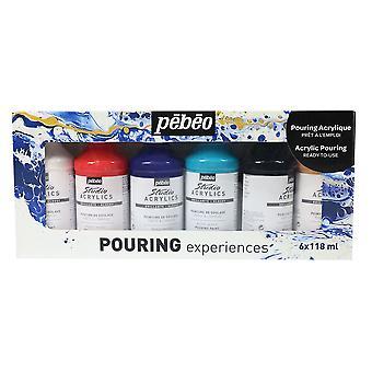 Pebeo Pouring Experiences Acrylic Colour Set 6 x 118ml