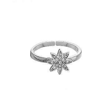 Vixi Sieraden Nova Silver Grote Verstelbare Ring Dames Sieraden NOVA-RL. W
