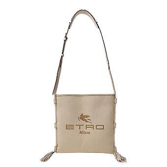 Etro 1n17119990800 Women's Beige Fabric Shoulder Bag