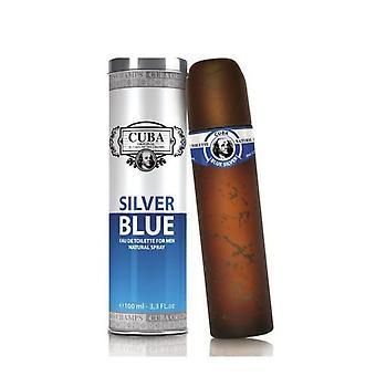 Cuba Silver Blue Eau de Toilette Spray 100ml