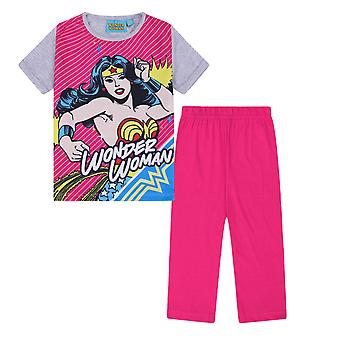 DC Comics Wonder Woman Official Gift Girls Kids Long Pyjamas