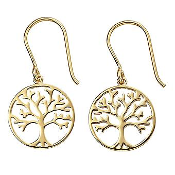 Beginnings Sterling Silver Gold Plated Tree Of Life Earrings E5854