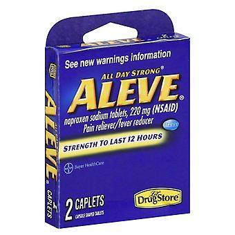 Aleve pain relieving, 22 mg, caplets, 2 ea