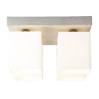 BRILLIANT Lampe Monty Loftlampe 4flg beton / hvid   4x A60, E27, 40W, egnet til normale lamper (ikke inkluderet)   Skala