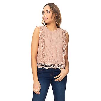 Lace and embroidery top