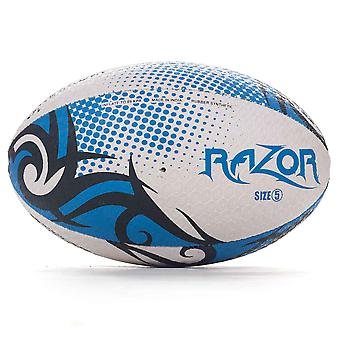 Optimum Razor Rugby League Union Ball Black/Blue/White