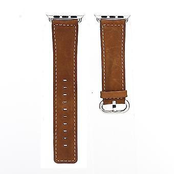 44mm,42mm para Apple Watch Series 1,2,3 e 4 Premium Genuíno Cinta de Couro Marrom