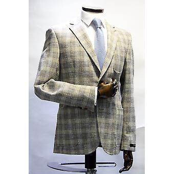 Ken Oatmeal Check Textured Blazer