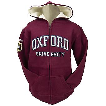 Ou129 licensed kids zipped oxford university™ hooded sweatshirt maroon
