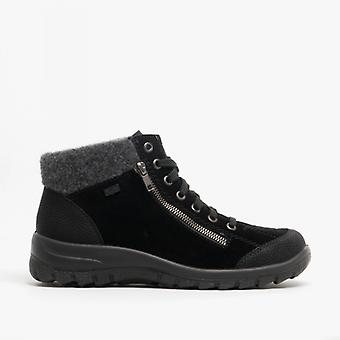Rieker L7132-01 Damen Casual Ankle Boots Black/anthrazit