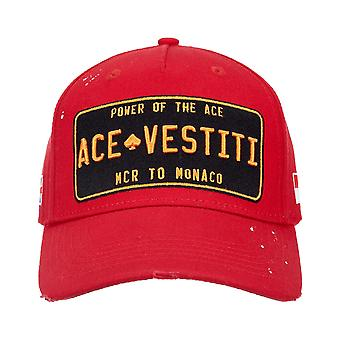 Ace Vestiti Paint Splatt Plated Baseball Cap - Red-One Size
