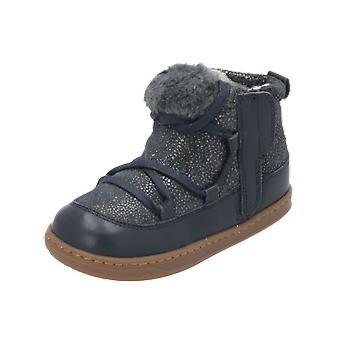 Shoo Pom Bouba Glagla Kids Girls Boots Blue Lace-Up Boots Winter