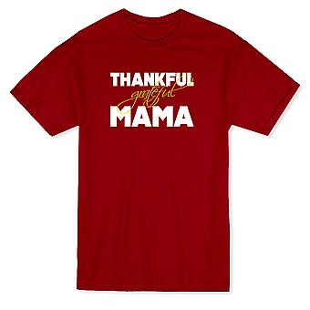 Thankful Grateful Mama Thanksgiving Quote Men's T-shirt