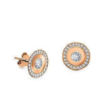 Earrings Fedora 18K Gold and Diamonds