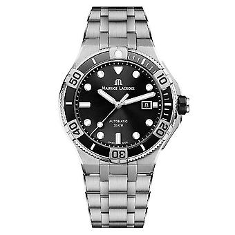 Maurice LaCroix Aikon Automatic Silver Stainless Steel Black Dial Mens Watch AI6058-SS002-330-1
