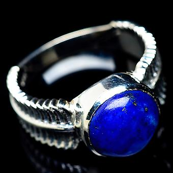 Lapis Lazuli Ring Size 8 (925 Sterling Silver)  - Handmade Boho Vintage Jewelry RING5840