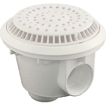 "Waterway 640-2750 V 8"" Round 2"" Socket Vinyl Main Drain - White"