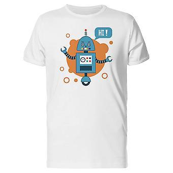 الأزرق روبوت قائلا مرحبا المحملة للرجال-الصورة عن طريق Shutterstock