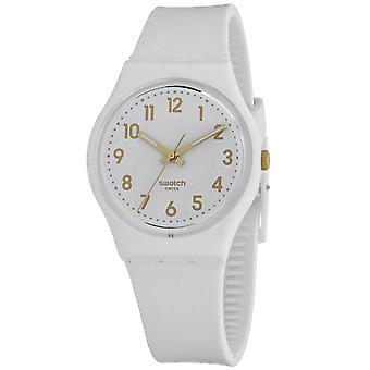 Swatch Women's Bishop White dial watch - GW164