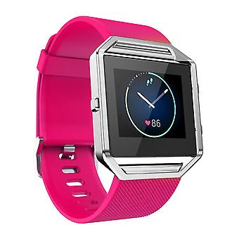 Replacement Wristband Bracelet Band Strap for Fitbit Blaze[Hot Pink,Large]
