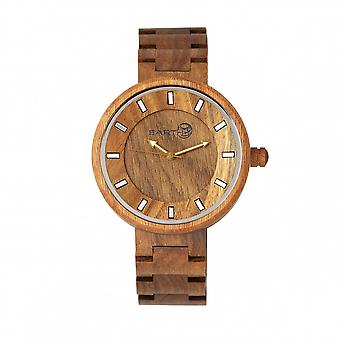 Jorden trä filial armband Watch - oliv