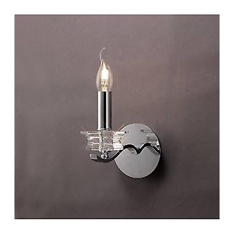Nydia Wall Light With Switch 1 Polished Chrome / Crystal Bulb