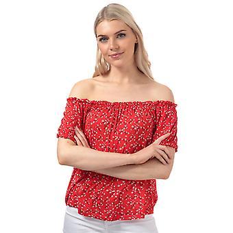 Women's Vero Moda Lizzy Off The Shoulder Top in Red