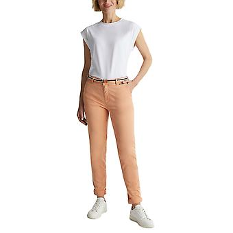 Esprit Women's Belted Stretch Chino Παντελονι Medium Rise Γραμμη