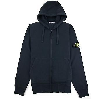 Stone Island Open Zip Up Sweatshirt à capuchon Marine V0020