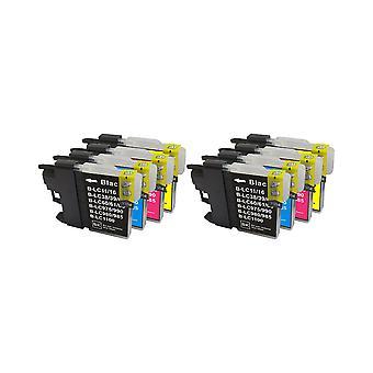 RudyTwos 2 x vervanging voor Brother LC-985 Set inkt eenheid Black Cyaan Magenta & Gele compatibel met MFC-J220 J265W J410, DCP-J125, J315W, J415W, J515W