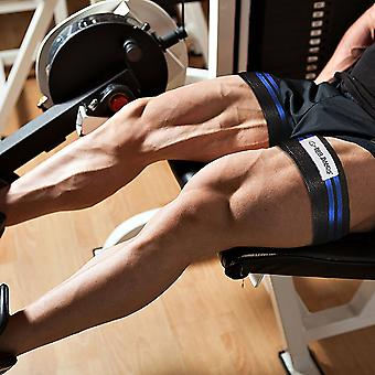 BFR Bands Double Wrap Leg and Calf Occlusion Training Bands - Black/Blue