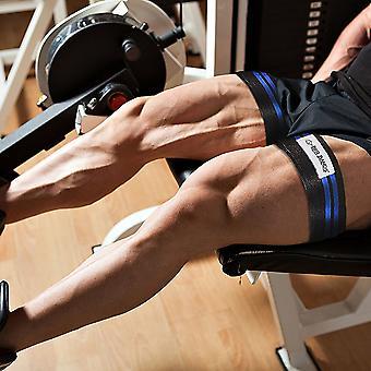 BFR bandes Double enveloppement jambes et mollet Occlusion formation bandes - noir/bleu