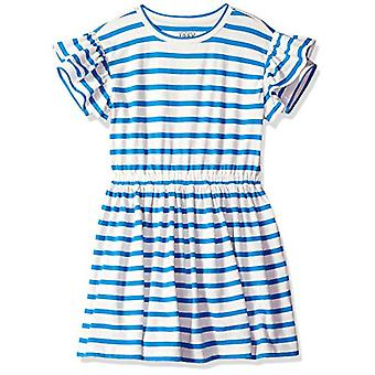 / J. Crew Brand- LOOK by Crewcuts Girls' Ruffle Sleeve Dress, Blue Stri...