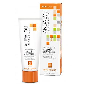 Andalou Naturals Brightening Chia Omega + C Radiant Skin Polish