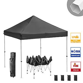 Instahibit 10x10 ft Pop Up Canopy Tent CPAI-84 Commercial Ez up Canopy Shade for Trade Fair Party Tent 1680D Roller Bag