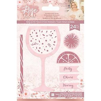 Crafter's Companion Rose Gold Stamp and Die Sparkle and Shine
