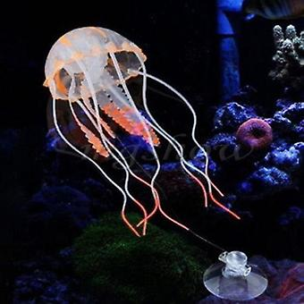 Swim Glowing Effect Artificial Jellyfish Aquarium Decoration Fish Tank,