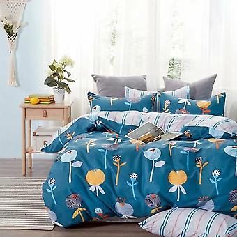 Homestay Style Cotton Yarn Dyed Bedding Set
