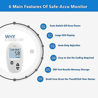 Accu Blood Glucose Meter & Test Strips & Lancets Glucometer Kit
