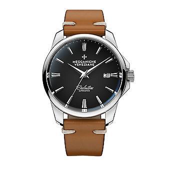 Meccaniche Veneziane 1301002 Redentore Automatic Black Dial Wristwatch
