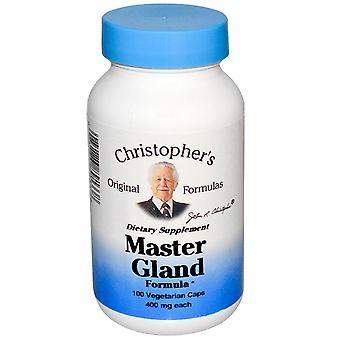 Christopher's Original Formulas, Master Gland Formula, 400 mg, 100 Vegetarian Ca